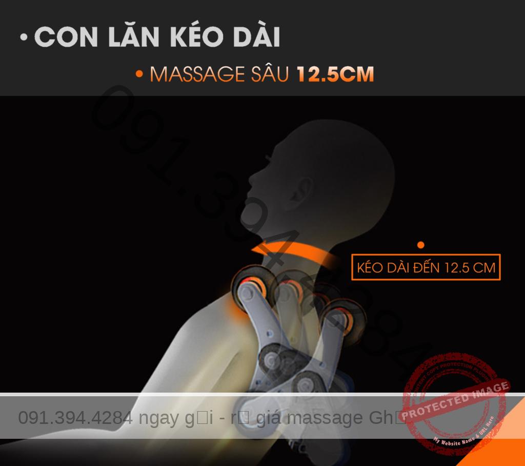 FUJIKIMA 168 (Fujikima FJ 168) XẢ KHO GIÁ GỐC - Thanh Lý ghế massage Phá Giá thị trường. Con lăn kéo dài, massage sâu 12.5cm
