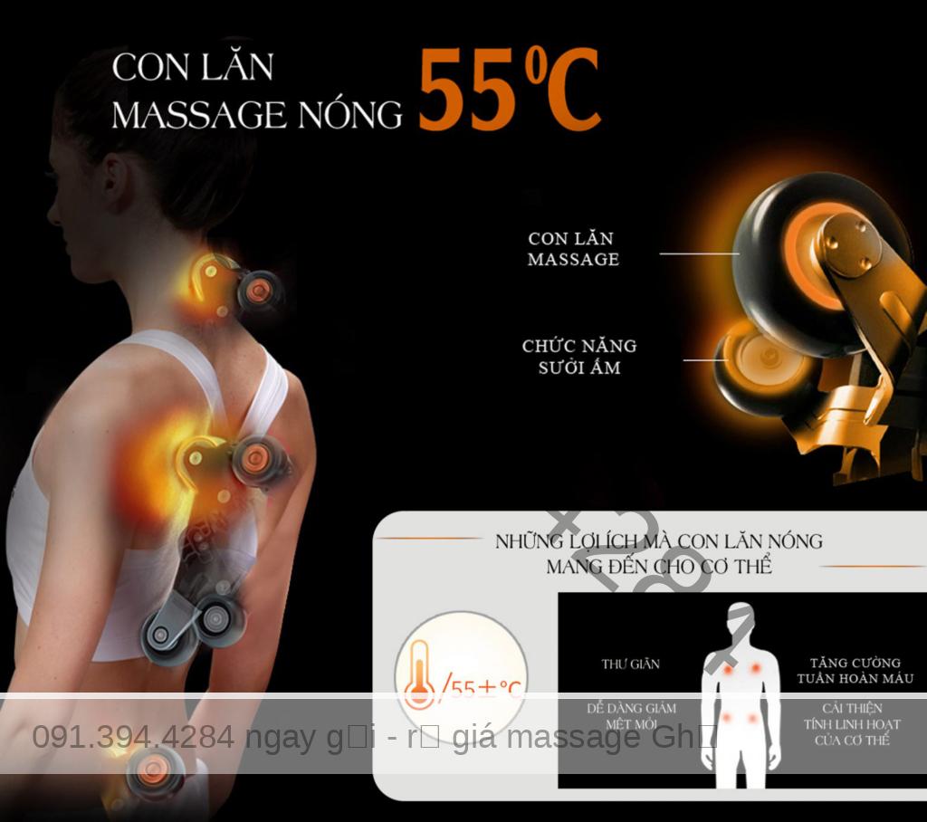 FUJIKIMA 168 (Fujikima FJ 168) XẢ KHO GIÁ GỐC - Thanh Lý ghế massage Phá Giá thị trường. Con lăn massage nóng lên đến 55